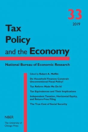 Tax Policy and the Economy, Volume 33