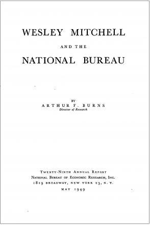 Wesley Mitchell and the National Bureau promo image